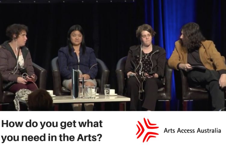 How do you get what you need in the Arts?